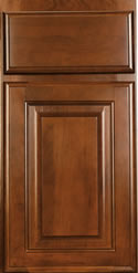 Cabinets with Coronet Bordeaux Finishes
