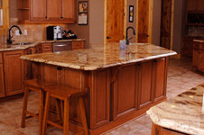 Rock Mocha wood finished custom cabinetry